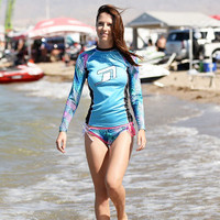 Ladies Cut Rashguard - Casey (Size L Only) PWC Jetski Ride & Race Apparel