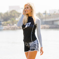 Ladies Cut Rashguard Morocco  PWC Jetski Ride & Race Apparel