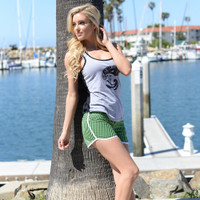 Kylie Shorts - Green PWC Jetski Ride & Race Apparel