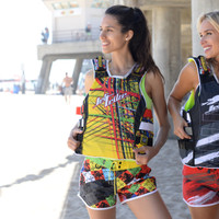 Ladies Cross Hatch Shorts - Multi PWC Jetski Ride Apparel