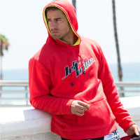 Men's Stacked Hoodie - Red PWC Jetski Ride & Race Apparel
