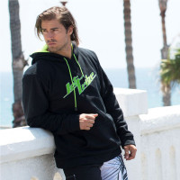 Men's Stacked Hoodie - Black PWC Jetski Ride & Race Apparel