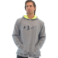 Men's Stacked Hoodie - Grey PWC Jetski Ride & Race Apparel