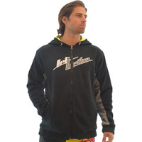 Men's Zip Up Hoodie - Black / Grey PWC Jetski Ride & Race Apparel