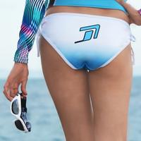 Ombre Bikini Tie Bottom  - Blue Swimwear (Medium Only - Clearance)