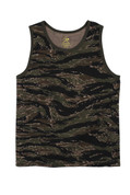 Tiger Stripe Camo Tank Tops - View
