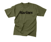 Olive Drab Military Physical Training Marines T Shirt - View