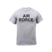 Grey Physical Training Air Force T Shirt - Front View