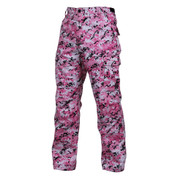 Pink Digital Camo BDU Fatigue Pants - Side View