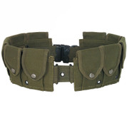10 Pocket Canvas Cartridge Belt Olive-Free Shipping