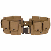 Khaki 10 Pocket Canvas Cartridge Belt-Free Shipping