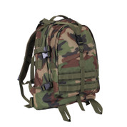 Woodland Camo Large Transport Pack - Front View