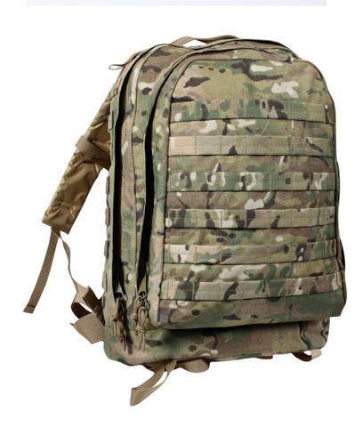 MultiCam MOLLE 3 Day Assault Pack - Front View