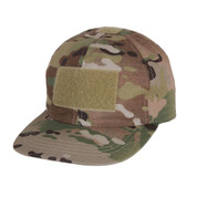 Kids Camo MultiCam Operators Tactical Cap - Full View