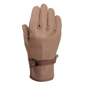 Coyote Brown D3-A Type Leather Gloves - Front View