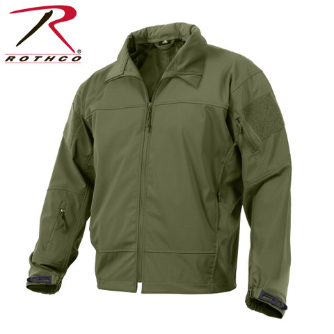 Rothco Olive Drab Covert Ops Light Weight Soft Shell Jacket - Full View