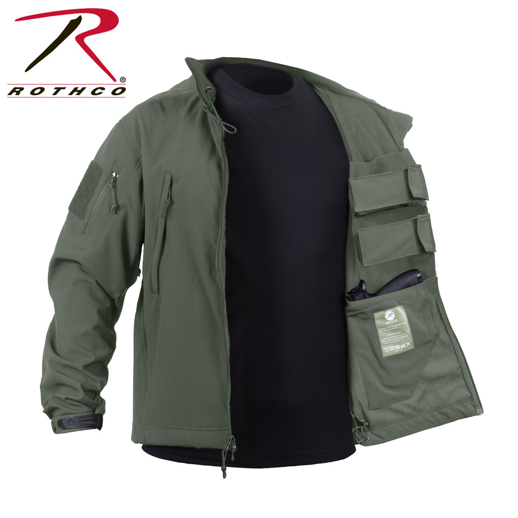 520d7878dfb Shop Rothco Soft Shell Concealed Carry Jackets - Fatigues Army Navy