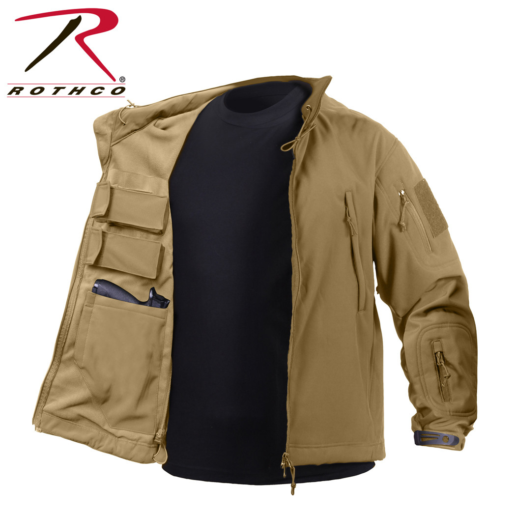0c561f39371 Shop Coyote Rothco Soft Shell Concealed Carry Jackets - Fatigues Army Navy