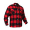 Polar Fleece Lined Red Buffalo Plaid Flannel Shirt - Right Side View