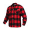 Polar Fleece Lined Red Buffalo Plaid Flannel Shirt - Left Side View