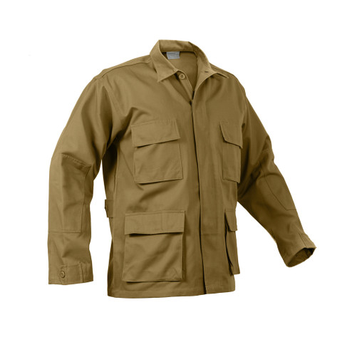 Coyote Brown BDU Fatigue Jacket - Front View