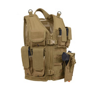 Kids Coyote Brown Tactical Cross Draw Vest - View