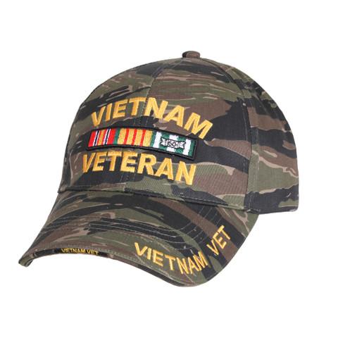 Vietnam Veteran Tiger Stripe Low Profile Cap - Front View