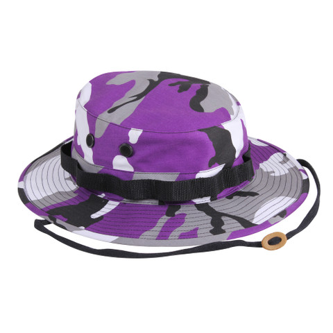 Purple Camo Boonie Hat - View