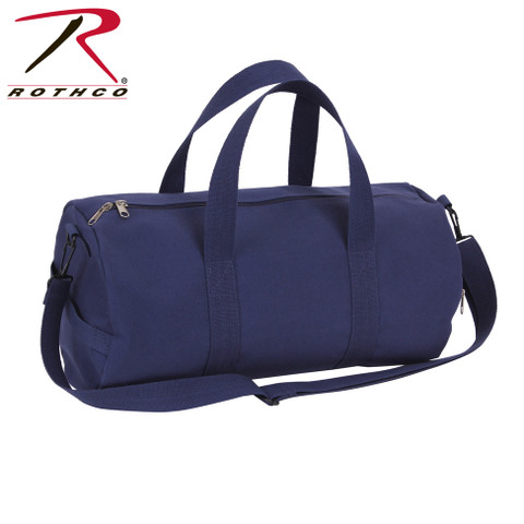 Navy Blue Canvas Sports Shoulder Bag - Rothco View