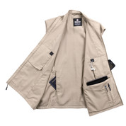 Rothco Khaki Undercover Travel Vest - Open Inside View