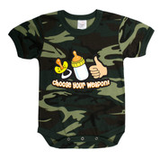 Infant Camo Choose Your Weapon One-Piece Bodysuit - View