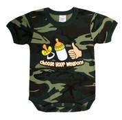 Infant Camo Choose Your Weapon One-Piece Bodysuit - View