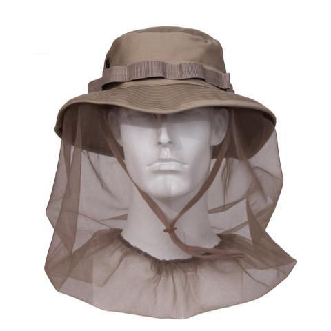 Khaki Boonie Hat w/Mosquito Netting - View
