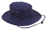 Adjustable Navy Blue Outdoor Boonie Hat - View
