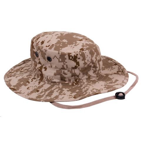 Adjustable Desert Digital Camo Outdoor Boonie Hat - View