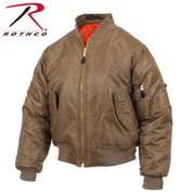 Coyote Brown MA1 Flight Jacket - Rothco View