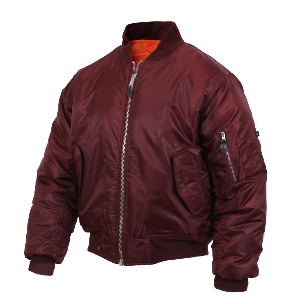 1f4affe2a63 Shop Rothco Maroon MA-1 Flight Jackets - Fatigues Army Navy Gear