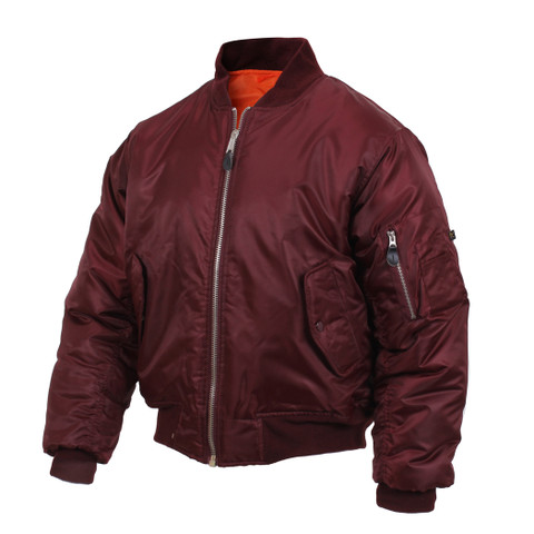 Rothco Maroon MA1 Flight Jacket - View