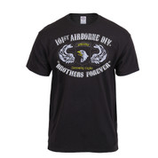 Black Ink Distressed 101st Airborne Division T Shirt - View
