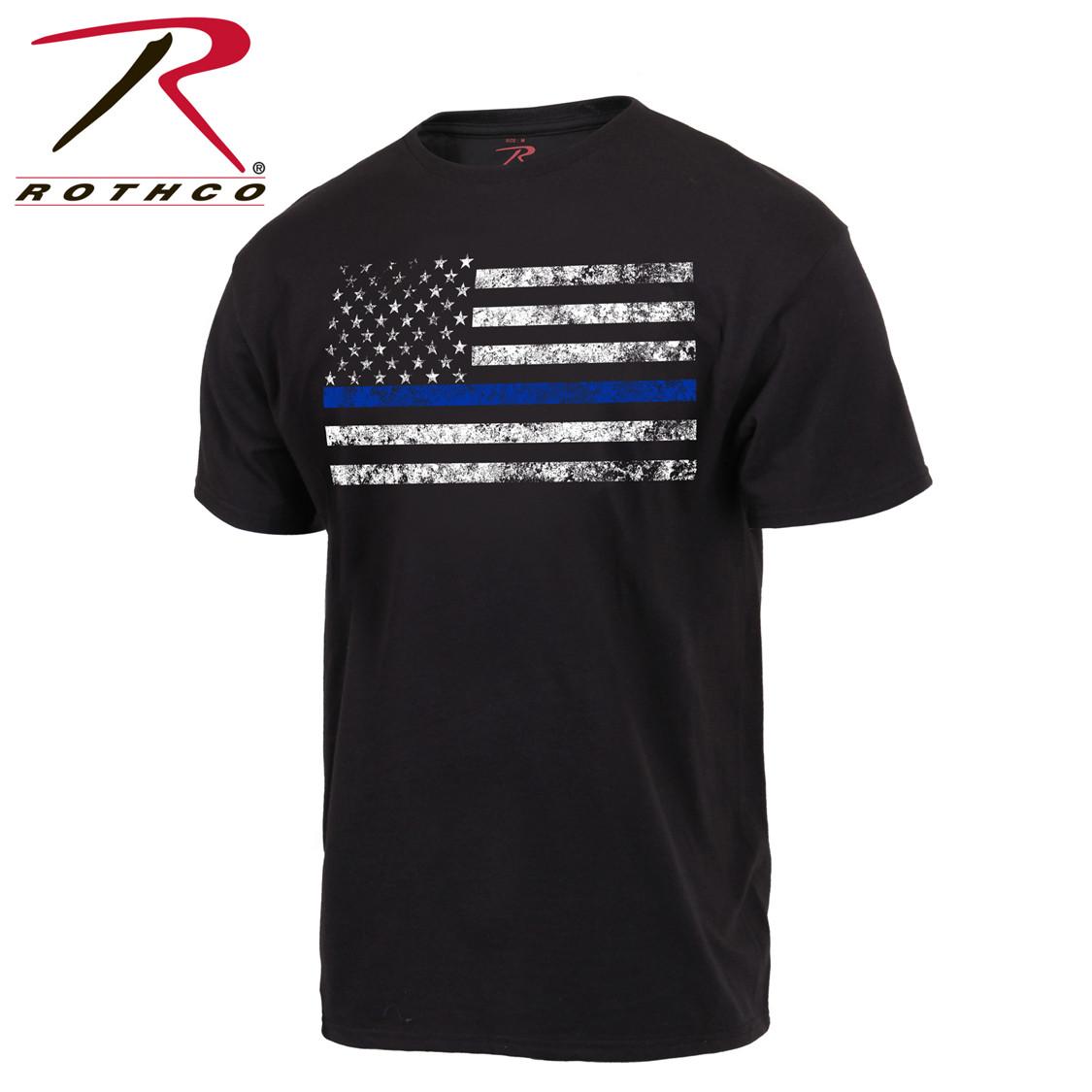 44de81eb49725 Shop Thin Blue Line Flag T Shirts - Fatigues Army Navy