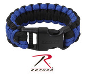 Deluxe Blue Thin Line Paracord Bracelets - View