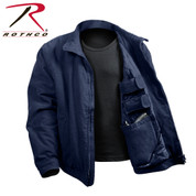 Navy Blue 3 Season Concealed Carry Jacket - Open View