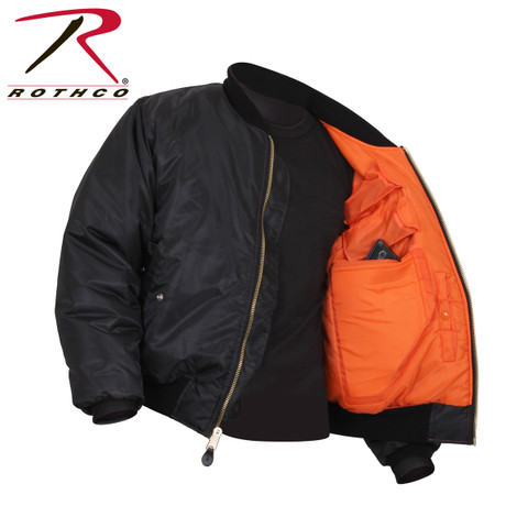 Concealed Carry MA-1 Flight Jacket - Open View