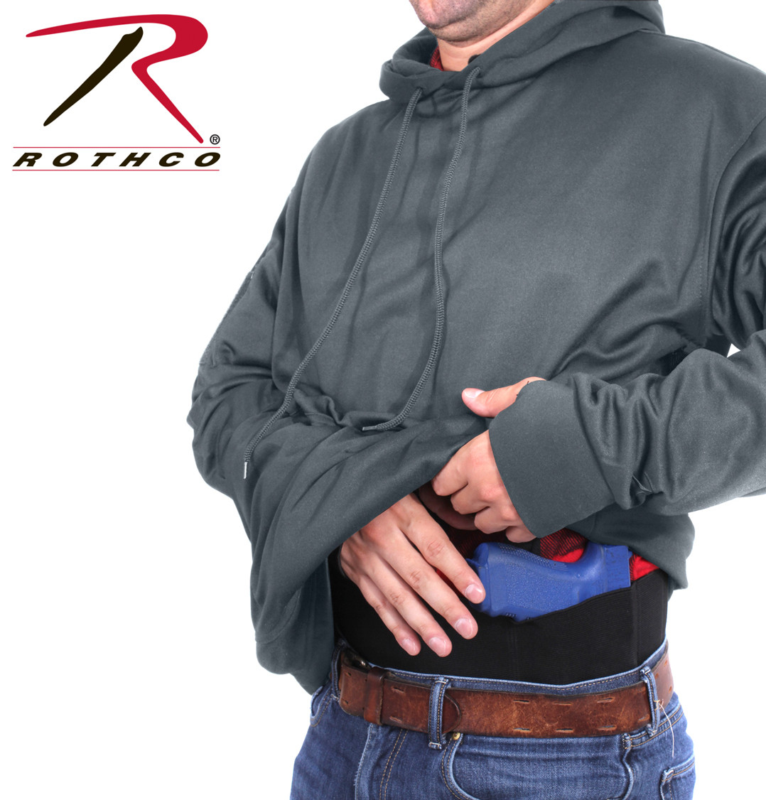 7d025200 Rothco Concealed Carry Hoodie Pullover - Grey - Fatigues Army Navy &  Surplus Gear Co.