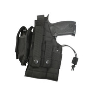 Black MOLLE Modular Ambidextrous Holster - Left View