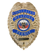 "Deluxe ""Concealed Weapons Permit"" Badge - View"