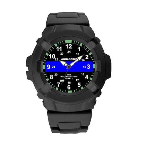Aqua Force Blue Thin Line Watch - View