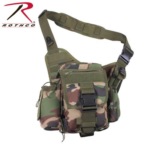 Advanced Woodland Camo Tactical Sling Bag - Rothco View
