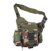Advanced Woodland Camo Tactical Sling Bag - Front View