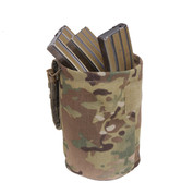 MultiCam MOLLE Roll Up Utility Dump Pouch - Loaded View